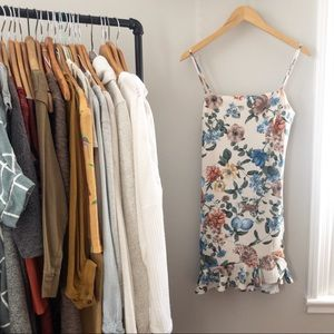 In the moment floral mini-dress